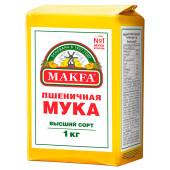 Мука Makfa 1кг пшеничная в/с