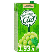 Нектар Фруктовый сад 1,93л яблоко виноград