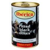 Маслины чёрные крупные Iberica с косточкой 420г