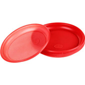 Тарелка столовая 1-секц 6шт 20,5см цветная