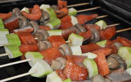 Шашлык из сёмги с овощами п/ф сп