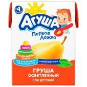 Сок Агуша 200мл груша осветленный с 4 месяцев