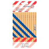 Набор карандашей черно-графитных Attomex 12шт дерево 68824