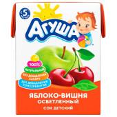Сок Агуша 200мл яблоко вишня осветленный с 5 месяцев