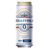 Пиво балтика №0 0,5% 0,45л б/алк светлое ж/б