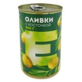 Оливки Европа с косточкой 300г