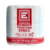 Туалетная бумага Европа 4шт двухслойная