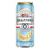 Пивной напиток балтика №0 нефильтрованное пшеничное 0,45л ж/б