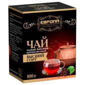 Чай черный Европа крупнолистовой 100г в/с