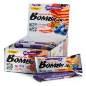 Батончик протеиновый Bombbar 60г чернично-смородиновый панкейк