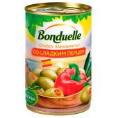 Оливки Bonduelle 314г со сладким перцем ж/б ключ