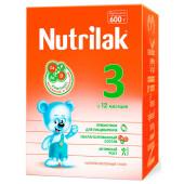 Смесь молочная Nutrilak-3 с 12 месяцев 600г