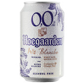 Пивной напиток Hoegaarden 0,33л 0,0% б/алк нефильтрованный ж/б