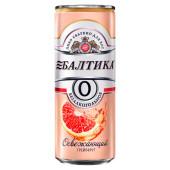 Пивной напиток балтика №0 0% 0,33л б/алк грейпфрут ж/б