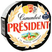 Сыр президент 125г 45% камамбер мягкий с белой плесенью
