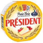 Сыр президент 125г 60% петит бри мягкий с белой плесенью