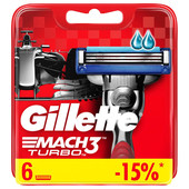 Кассеты Gillette Mach3 Turbo 6шт