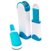 Комплект щеток универсальных 2шт для удаления шерсти ворса Bradex  ворсинка белый/голубой