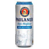 Пиво паулайнер 0,5л безалкогольное ж/б