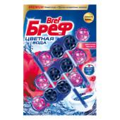Туалетный блок для унитаза Bref колор-актив 3*50г цветочная свежесть