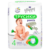 Трусики-подгузники Bella Baby Happy 12шт макси 8-14кг 4