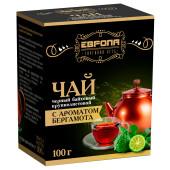 Чай черный Европа крупнолистовой с бергамотом 100г в/с