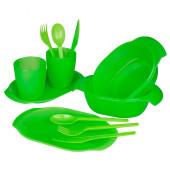 Набор для пикника 16пр SparkPlast зеленый