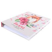 Тетрадь 80л клетка Проф-Пресс лиса и цветы на кольцах 80-5821