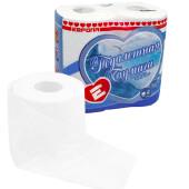 Туалетная бумага европа 4шт 4-х слойная белая