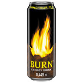 Энергетический напиток Burn лимонный лед 0,449л ж/б