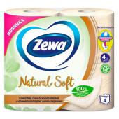Туалетная бумага Zewa Natural Soft 4шт 4-х слойная