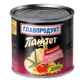 Паштет Главпродукт 240г нежный из куриной печени ж/б