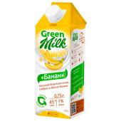 Напиток Green milk 0,75л на соевой основе с бананом
