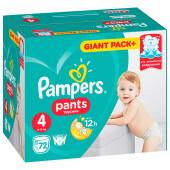 Трусики-подгузники Pampers Pants 72шт Maxi 9-15кг 4 мега для мальчиков и девочек