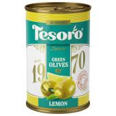 Оливки Тесоро 300гр с лимоном ж/б