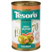 Оливки Тесоро 300гр с лососем ж/б