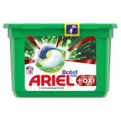 Капсулы для стирки Ariel 18шт всё в1 экстра окси эффект