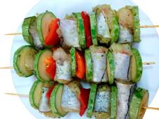 Шашлычок из пикши с овощами п/ф сп