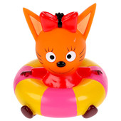Игрушка для ванны Капитошка Три кота карамелька на круге в сетке 300707