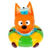 Игрушка для ванны Капитошка Три кота коржик на круге в сетке 300706