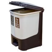 Контейнер бытовой для раздельного сбора мусора Unigood 33*33*44см бежевый/коричневый