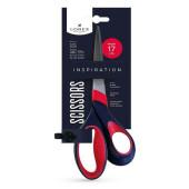 Ножницы Lorex 170см офисные черно-красные ручки