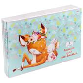 Альбом для рисования Проф-Пресс 8л олененок и зайчуля а4 08-5143