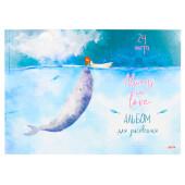 Альбом для рисования Проф-Пресс 24л девочка и кит а4 24-1219