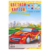 Картон цветной Profit волшебный 8л 8цв машина в городе а4 08-7495