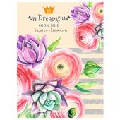 Бизнес-блокнот Проф-Пресс а6 64л пастельные цветы 64-6021