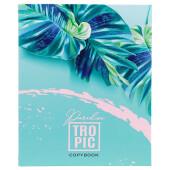 Тетрадь 80л клетка Проф-Пресс тропические листья на кольцах к80-5801