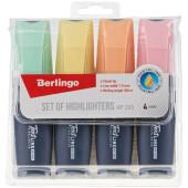 Набор текстовыделителей Berlingo текстлайн hp200 4цв 1-5мм пастельные цвета 284276