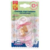 Соска-пустышка Умка 0+ 2шт розовый латексная традиционная 870880/870923
