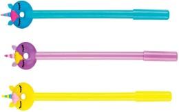 Ручка шариковая европа классный выбор пончик-единорог синие чернила 0.8мм 89516 екв